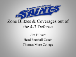 Zone Blitzes & Coverages out of the 4-3 Defense