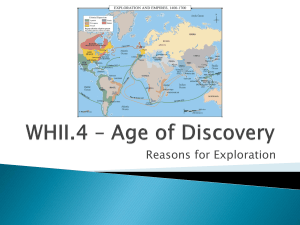 WH2.4 Introduction – Reasons for Exploration