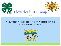 Cloverleaf 4-H Camp - University of Georgia