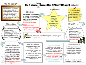 5 min Lesson Plan - The Literacy Shed