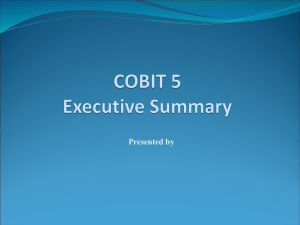 COBIT 5 Exec. Summary