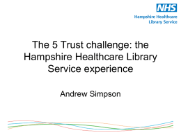 Presentation on the 5 Trust Challenge