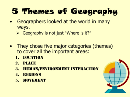 place 5 themes of geography examples