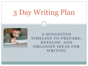 3 Day Writing Planx
