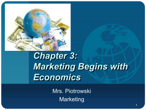 Chapter 3: Marketing Begins with Economics