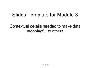 Module 3 Lecture Slides to Accompany Online Curriculum