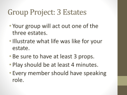 Group Project: 3 Estates