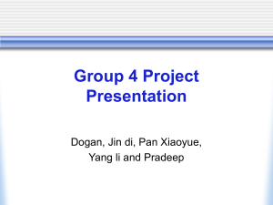 Group 4 Project Presentation