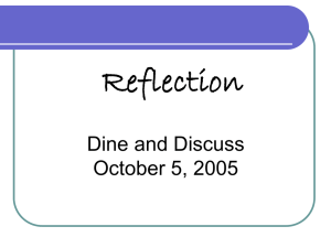 Service-Learning Reflection Dine and Discuss