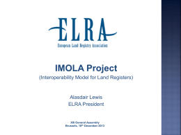 1. Alasdair Lewis_IMOLA Project - elra european land registry
