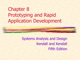 Chapter 8 Prototyping and Rapid Application Development