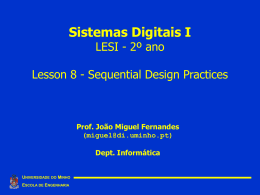Aula 8: Sequential Design Practices