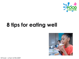 8 tips to eating well