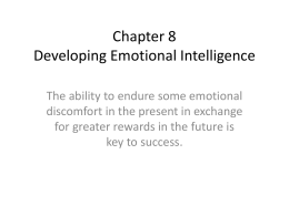 Chapter 8 Developing Emotional Intelligence