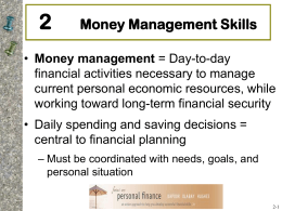 Chapter 2: Money Management Skills