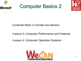 Computer Basics 2 - Houston Public Library