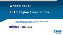 Region 6 Strategies 2015 111514