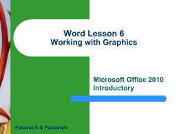 MS Word - Lesson 6