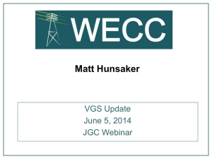 VGS Update for JGC 6-5-2014