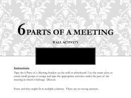 6 Parts of a Meeting Wall Activity PPT