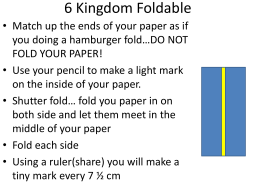 6 Kingdom Foldable