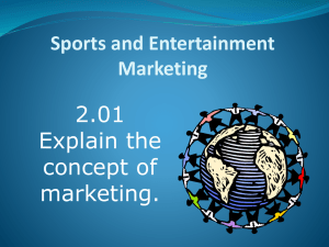 2.01 Recognize the importance of marketing.