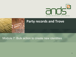 Module 7: Bulk action to create new identities