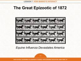 The great epizootic of 1872 - High School Economics