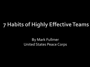7 Habits of Highly Effective Teams