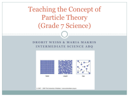Teaching the Concept of Particle Theory (Grade 7
