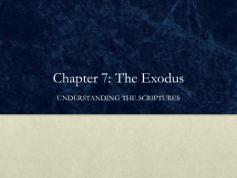 Chapter 7: The Exodus - Midwest Theological Forum