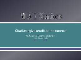 MLA 7 Citations