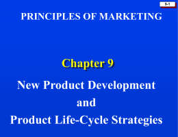 Chapter 9: New Product Development and