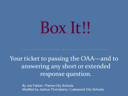 """Box It!"" method - Lakewood City Schools"