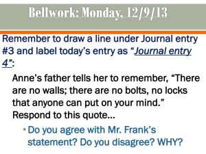 Image of: Ladd Week 2 The Diary Of Anne Frank Ppt Studylibnet The Diary Of Anne Frank Vocabulary Powerpoint