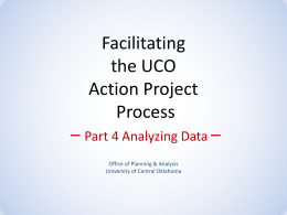 Root Cause Analysis - University of Central Oklahoma