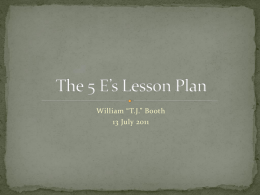 The 5 E`s Lesson Plan x - GK-12