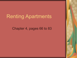1 - Renting Apartments