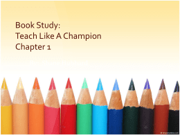 Teach Like a Champ Book Study