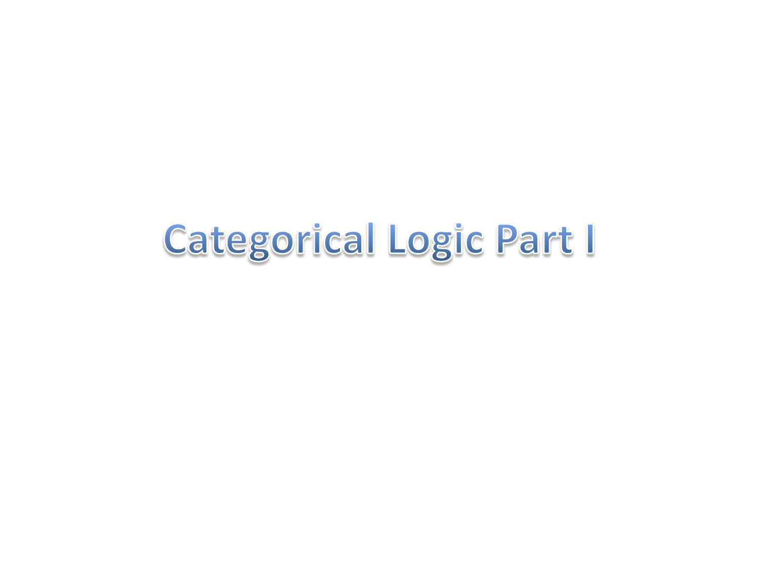 Categorical logic falaconquin
