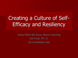 Creating a Culture of Self