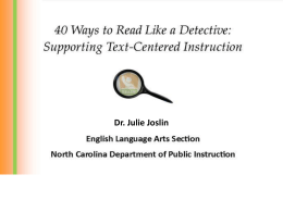 40 Ways to Read Like a Detective - ELD
