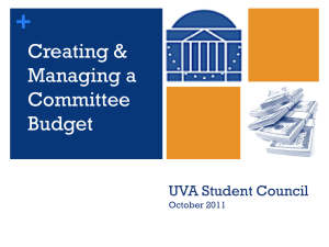 Creating & Managing a Committee Budget
