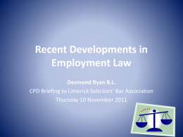 employment law - Limerick Solicitors` Bar Association