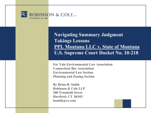 Navigating Summary Judgment Takings Lessons