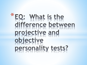 EQ: What is the difference between projective and