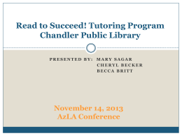 Read to Succeed Tutoring Program