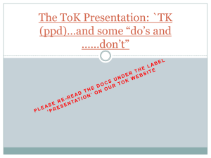 Your Presentation-Do and Don`t