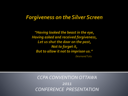 Forgiveness on the Silver Screen