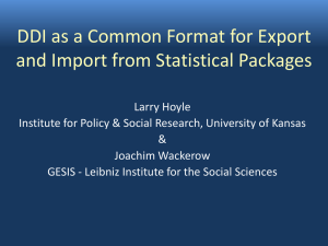 DDI as a Common Format for Export and Import from Statistical